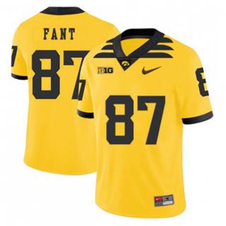 Men's Iowa Hawkeyes #87 Noah Fant Yellow 2019 College Football Jersey