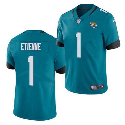 Men's Jacksonville Jaguars #1 Travis Etienne Blue 2021 Vapor Untouchable Limited Stitched Football Jersey