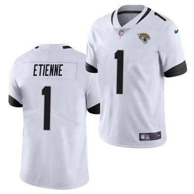 Men's Jacksonville Jaguars #1 Travis Etienne White 2021 Vapor Untouchable Limited Stitched Football Jersey