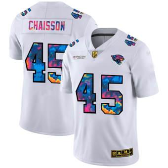 Men's Jacksonville Jaguars #45 K'Lavon Chaisson White Multi-Color 2020 Football Crucial Catch Limited Football Jersey
