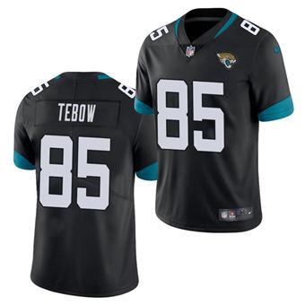 Men's Jacksonville Jaguars #85 Tim Tebow 2021 Black Vapor Untouchable Limited Stitched Football Jersey