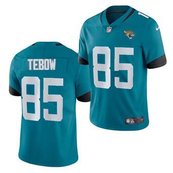Men's Jacksonville Jaguars #85 Tim Tebow 2021 Teal Vapor Untouchable Limited Stitched Football Jersey