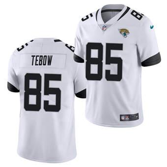 Men's Jacksonville Jaguars #85 Tim Tebow 2021 White Vapor Untouchable Limited Stitched Football Jersey