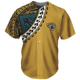 Men's Jacksonville Jaguars Yellow Baseball Jersey
