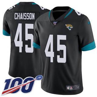 Men's Jaguars #45 K'Lavon Chaisson Black Team Color Stitched Football 100th Season Vapor Untouchable Limited Jersey