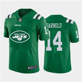 Men's Jets #14 Sam Darnold Green Football Team Big Logo Fashion Vapor Limited Jersey