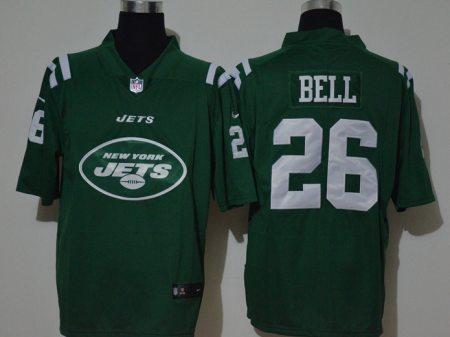 Men's Jets #26 Le'Veon Bell Green Football Team Big Logo Fashion Vapor Untouchable Limited Jersey