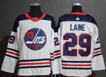 Men's Jets #29 Patrik Laine White  Heritage Stitched Hockey Jersey