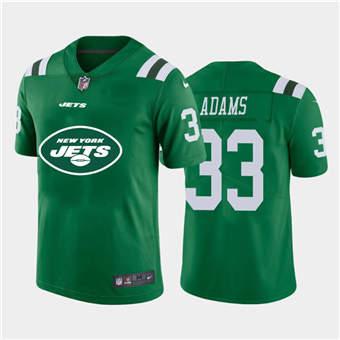 Men's Jets #33 Jamal Adams Green Football Team Big Logo Fashion Vapor Limited Jersey