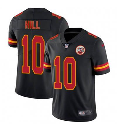 Men's Kansas City Chiefs #10 Tyreek Hill Black Limited Stitched Football Jersey