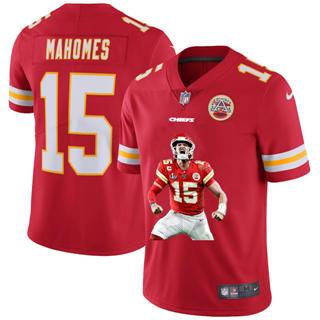 Men's Kansas City Chiefs #15 Patrick Mahomes Player Signature Moves Vapor Limited Football Jersey Red
