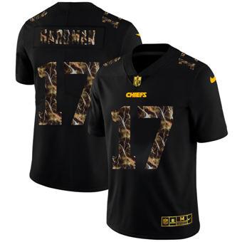 Men's Kansas City Chiefs #17 Mecole Hardman Black Flocked Lightning Vapor Limited Football Jersey