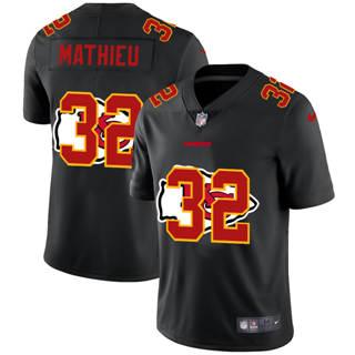 Men's Kansas City Chiefs #32 Tyrann Mathieu Team Logo Dual Overlap Limited Football Jersey Black