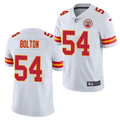 Men's Kansas City Chiefs #54 Nick Bolton White 2021 Draft Limited Stitched Football Jersey