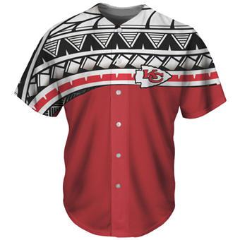 Men's Kansas City Chiefs Red Baseball Jersey