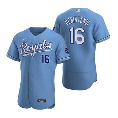 Men's Kansas City Royals #16 Andrew Benintendi Light Blue Flex Base Stitched Baseball Jersey