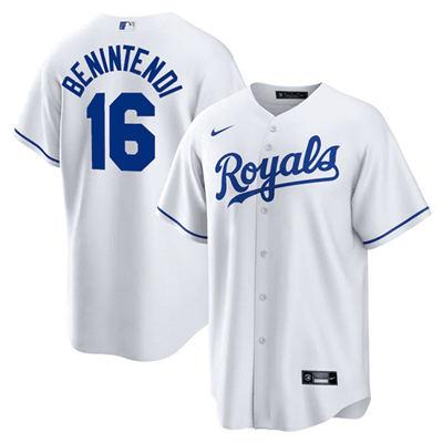 Men's Kansas City Royals #16 Andrew Benintendi White Cool Base Stitched Baseball Jersey