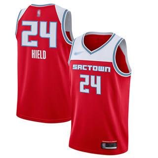 Men's Kings #24 Buddy Hield Red Basketball Swingman City Edition 2019-2020 Jersey