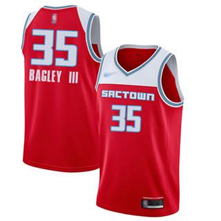 Men's Kings #35 Marvin Bagley III Red Basketball Swingman City Edition 2019-2020 Jersey