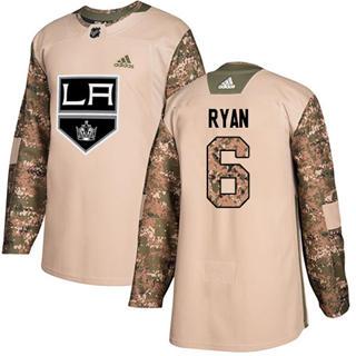 Men's Kings #6 Joakim Ryan Camo Authentic 2017 Veterans Day Stitched Hockey Jersey