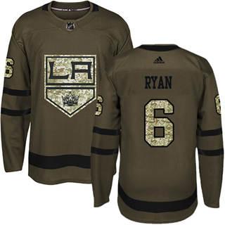 Men's Kings #6 Joakim Ryan Green Salute to Service Stitched Hockey Jersey