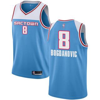Men's Kings #8 Bogdan Bogdanovic Blue Basketball Swingman City Edition 2018-19 Jersey