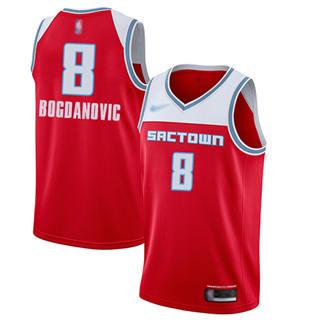 Men's Kings #8 Bogdan Bogdanovic Red Basketball Swingman City Edition 2019-2020 Jersey