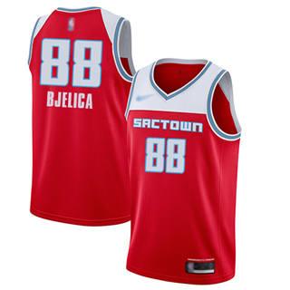 Men's Kings #88 Nemanja Bjelica Red Basketball Swingman City Edition 2019-2020 Jersey