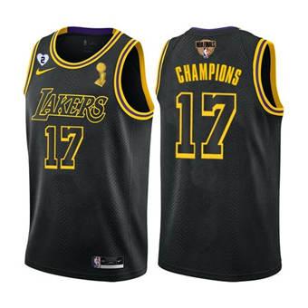 Men's LA Lakers Black Mamba Jersey #17 2020 Finals Champions with Gigi Patch