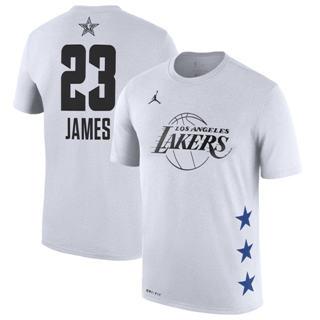 Men's Lakers 23 Lebron James White 2019 Basketball All-Star Game T-Shirt