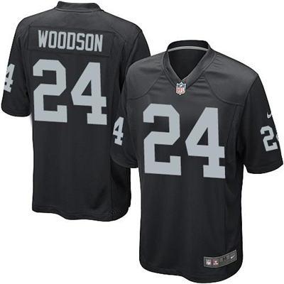 Men's Las Vegas Raiders #24 Charles Woodson Black Elite Stitched Football Jersey