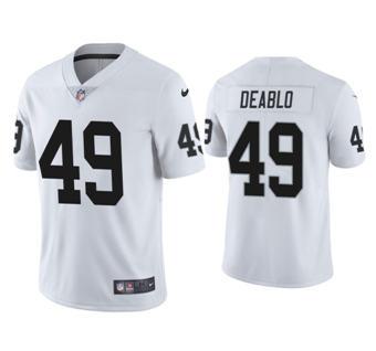 Men's Las Vegas Raiders #49 Divine Deablo White Stitched Football Vapor Untouchable Limited Jersey