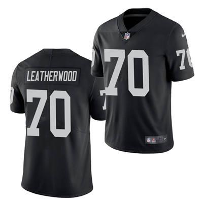 Men's Las Vegas Raiders #70 Alex Leatherwood 2021 Football Draft Black Vapor Untouchable Limited Stitched Jersey