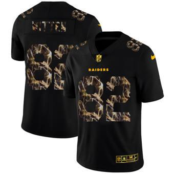 Men's Las Vegas Raiders #82 Jason Witten Black Flocked Lightning Vapor Limited Football Jersey