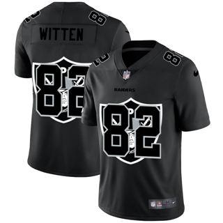 Men's Las Vegas Raiders #82 Jason Witten Team Logo Dual Overlap Limited Football Jersey Black