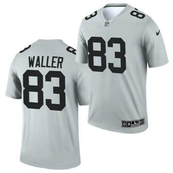 Men's Las Vegas Raiders #83 Darren Waller Gary 2021 Inverted Legend Stitched Football Jersey