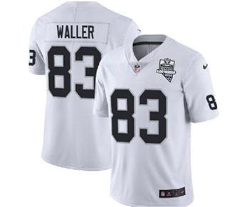 Men's Las Vegas Raiders #83 Darren Waller White 2020 Inaugural Season Vapor Limited Stitched Jersey