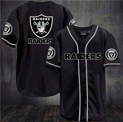 Men's Las Vegas Raiders Baseball Stitched Jersey Shirt