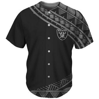 Men's Las Vegas Raiders Black Baseball Jersey