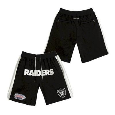 Men's Las Vegas Raiders Just Don Black Shorts (Run Smaller)