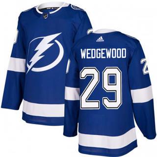 Men's Lightning #29 Scott Wedgewood Blue Home Authentic Stitched Hockey Jersey