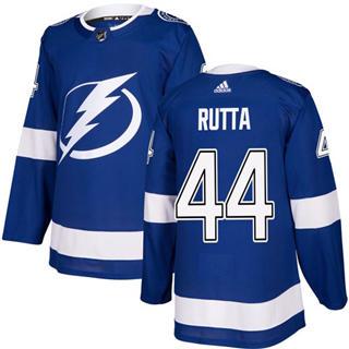 Men's Lightning #44 Jan Rutta Blue Home Authentic Stitched Hockey Jersey