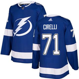 Men's Lightning #71 Anthony Cirelli Blue Home Authentic Stitched Hockey Jersey