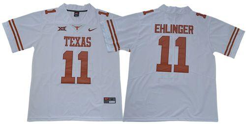 Men's Longhorns #11 Sam Ehlinger White Limited Stitched College Jersey