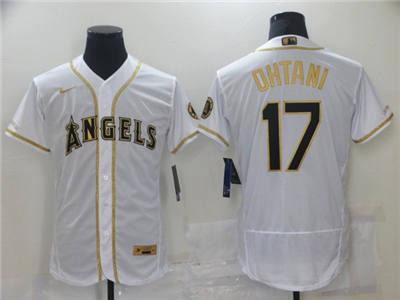 Men's Los Angeles Angels #17 Shohei Ohtani White Flex Base Stitched Baseball Jersey