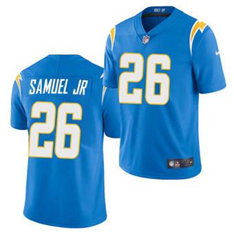 Men's Los Angeles Chargers #26 Asante Samuel Jr. Powder Blue 2021 Vapor Untouchable Limited Stitched Football Jersey
