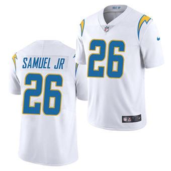 Men's Los Angeles Chargers #26 Asante Samuel Jr. White 2021 Vapor Untouchable Limited Stitched Football Jersey