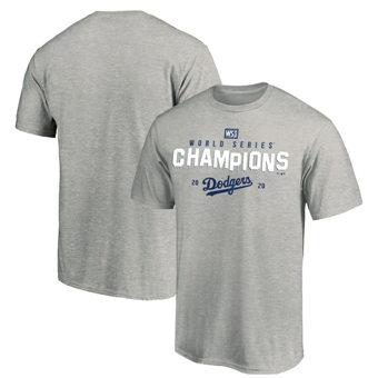 Men's Los Angeles Dodgers 2020 World Series Champions Crush the Ball Hometown T-Shirt Gray