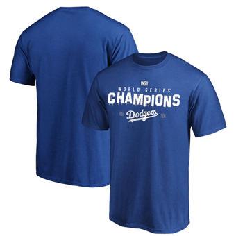 Men's Los Angeles Dodgers 2020 World Series Champions Crush the Ball Hometown T-Shirt Royal