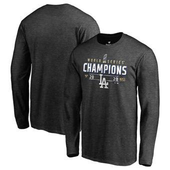 Men's Los Angeles Dodgers 2020 World Series Champions Locker Room Long Sleeve T-Shirt Charcoal